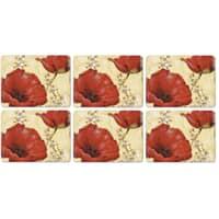 Portmeirion Pimpernel - Poppy De Villeneuve Placemats Set of 6
