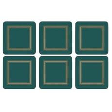 Portmeirion Pimpernel - Classic Emerald Coasters Set Of 6