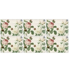 Portmeirion Pimpernel - RHS Roses Placemats Set Of 6