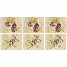 Portmeirion Pimpernel - Olives And Figs Placemats Set Of 6