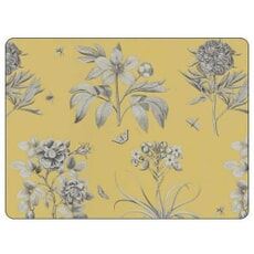 Portmeirion Pimpernel - Etchings And Roses Yellow Placemats Set Of 6