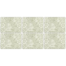 Portmeirion Pimpernel - Marigold Green Placemats Set Of 6