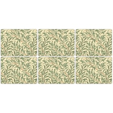 Portmeirion Pimpernel - Willow Boughs Green Placemats Set Of 6