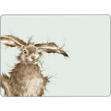 Wrendale Hare Brained Placemats Set Of 6