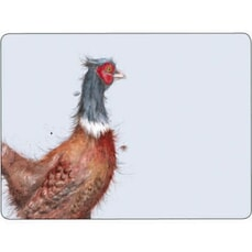 Wrendale Pheasant Placemats Set Of 6