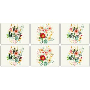 Portmeirion Pimpernel - Groovy Floral Placemats Set Of 6