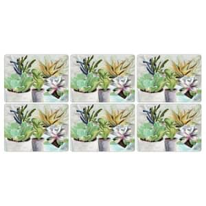 Portmeirion Pimpernel - Succulents Placemats Set Of 6