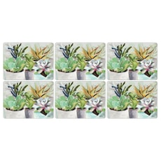 Portmeirion Pimpernel - Succulents Placemats Set Of 6