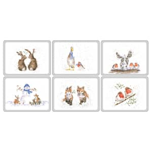 Wrendale Christmas Placemats Set Of 6