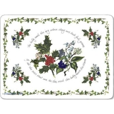 Portmeirion Holly and Ivy - Large Placemats Set Of 4