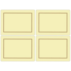 Portmeirion Pimpernel - Classic Cream Large Placemats Set Of 4