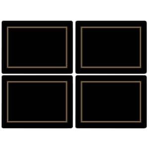 Portmeirion Pimpernel - Classic Black Large Placemats Set Of 4
