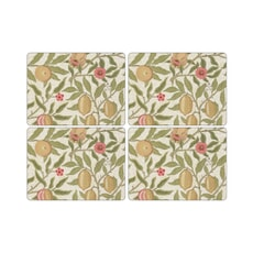 Portmeirion Pimpernel - Fruit Cream Placemats Set Of 4