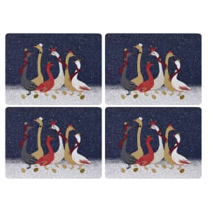 Sara Miller Geese Christmas Collection - Large Placemats Set Of 4