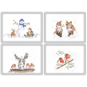 Wrendale Large Christmas Placemats Set Of 4