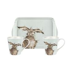Wrendale Hare Mug And Tray Set