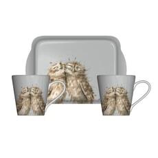 Wrendale Owl Mug And Tray Set