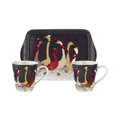 Sara Miller Geese Christmas Collection - Mug And Tray Set