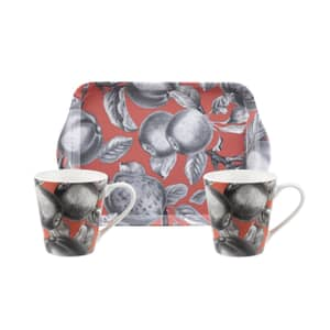 Portmeirion Pimpernel - Pomona Coral Mug and Tray Set