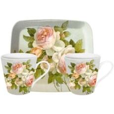 Portmeirion Pimpernel - Antique Roses Mug And Tray Set