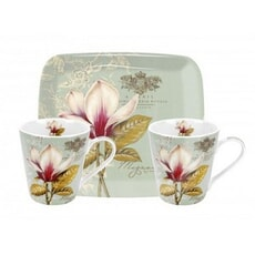 Portmeirion Pimpernel - Vintage Toile Mug And Tray Set