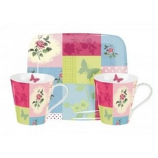 Portmeirion Pimpernel - Patchwork Mug And Tray Set