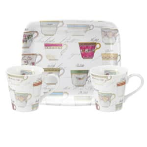 Portmeirion Pimpernel - Antiquities Mug And Tray Set