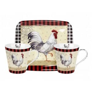 Portmeirion Pimpernel - Country Touch Mug And Tray Set