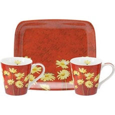 Portmeirion Pimpernel - Moulin Rouge Mug And Tray Set