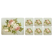 Portmeirion Pimpernel - Antique Roses Placemats And Free Coasters