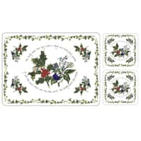 Portmeirion Holly and Ivy - Placemats and Free Of Charge Coasters