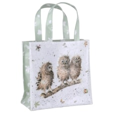 Wrendale Small Shopping Bag - Owls