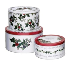 Portmeirion Holly and Ivy - Cake Tins Set Of 3