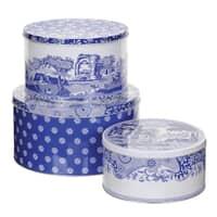 Spode Blue Italian - Cake Tins Set Of 3