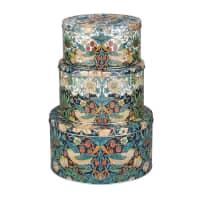 Spode Strawberry Thief - Round Storage Tins Set Of 3