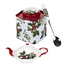 Portmeirion Holly and Ivy - 3 Piece Tea Set