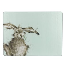 Wrendale Hare Brained Glass Worktop Saver