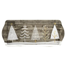 Portmeirion Pimpernel - Wooden White Christmas Sandwich Tray