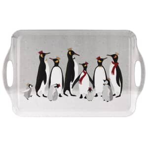 Sara Miller Penguin Christmas Collection - Large Handled Tray