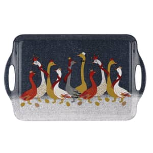 Sara Miller Geese Christmas Collection - Large Handled Tray