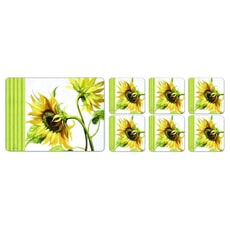 Portmeirion Pimpernel - Sunshine Coasters Set Of 6