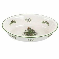 Spode Christmas Tree - Oval Rim Dish