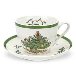 Spode Christmas Tree Tea Cup And Saucer