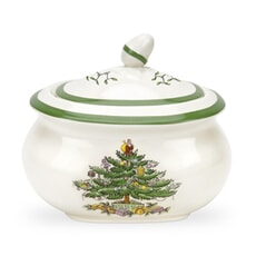 Spode Christmas Tree Sugar Box