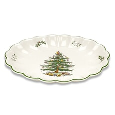 Spode Christmas Tree - Oval Fluted Dish