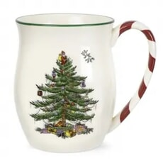 Spode Christmas Tree Mug With Peppermint Handle (Individual Mug)