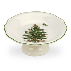 Spode Christmas Tree Footed Sweet Dish