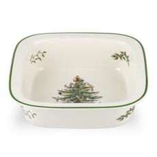 Spode Christmas Tree - Square Rim Dish