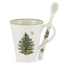 Spode Christmas Tree - Mug And Spoon Set