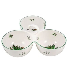 Spode Christmas Tree - 3 Part Server With Handle